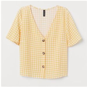 H&M Yellow Button Shirt - Size 2